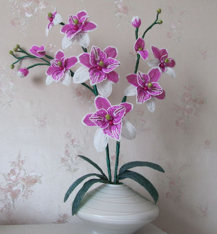 Orchid Raspberry morning | biser.info - all about beads and beaded works