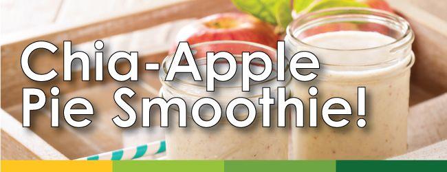 Featured Recipe: Organic Chia Apple Pie Smoothie