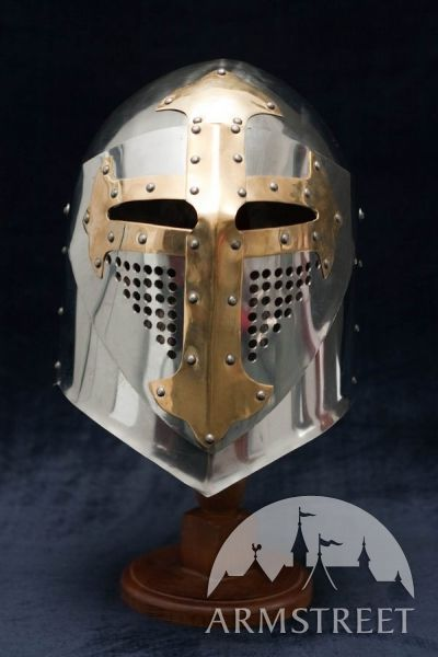 """""""SUGARLOAF"""" COMBAT HELMET 16 ga stainless combat helmet. Classic medieval design and great protection for sale"""