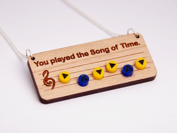 Canción de The Legend of Zelda collar de tiempo Ocarina del