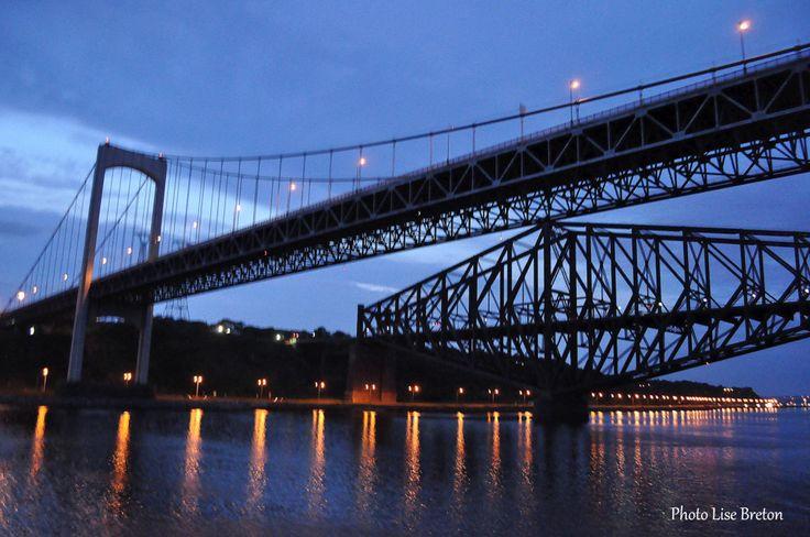 Les Ponts Pierre Laporte Et Le Pont De Quebec Canada Travel Canada Capital Of Canada