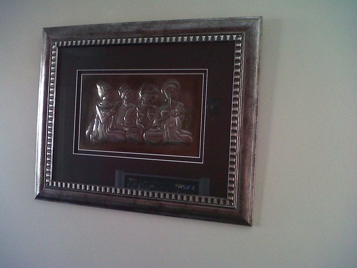 pewtered Southern African ladies - framed