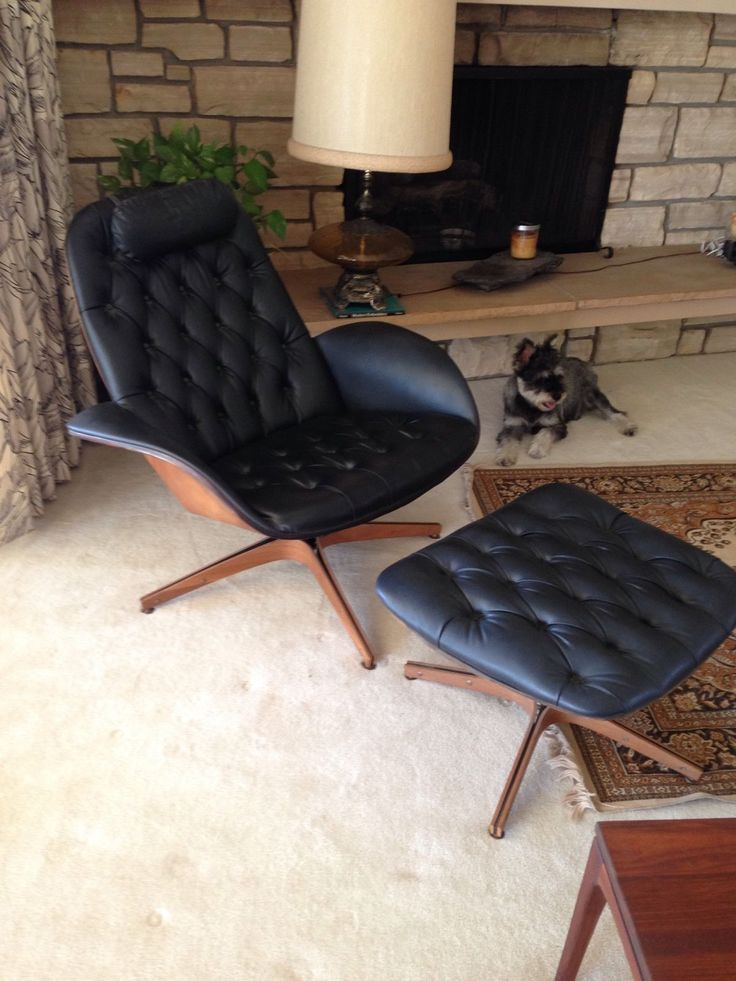 eames style chair walnut legs lounge ottomans uk dining ebay