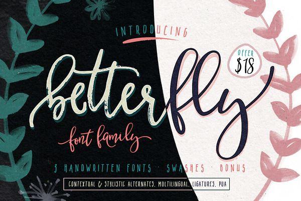 BetterFly - font family (OFFER $18)