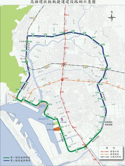 高雄環狀輕軌路線圖