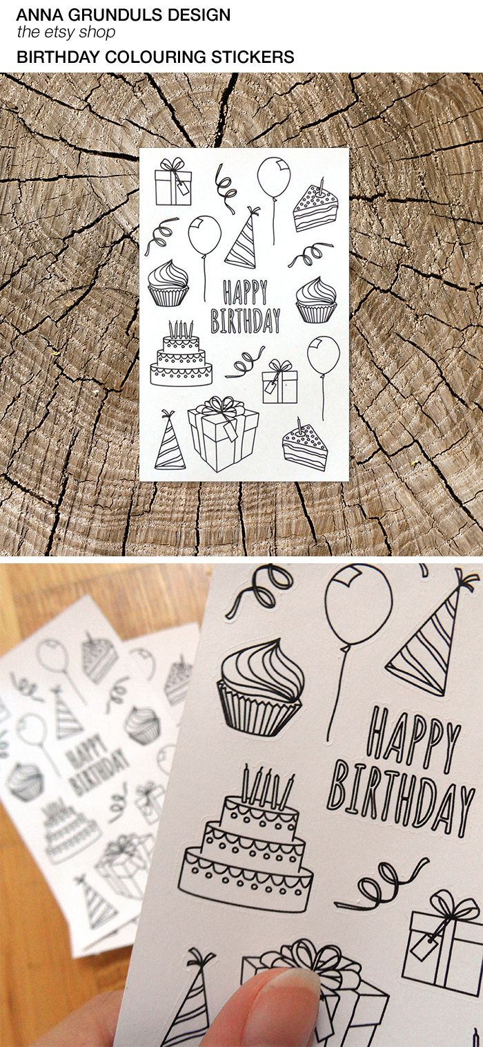 you can now get these lovely birthday colouring stickers at annagrundulsdesign.etsy.com :) Keep kids busy, while you're preparing a great party!