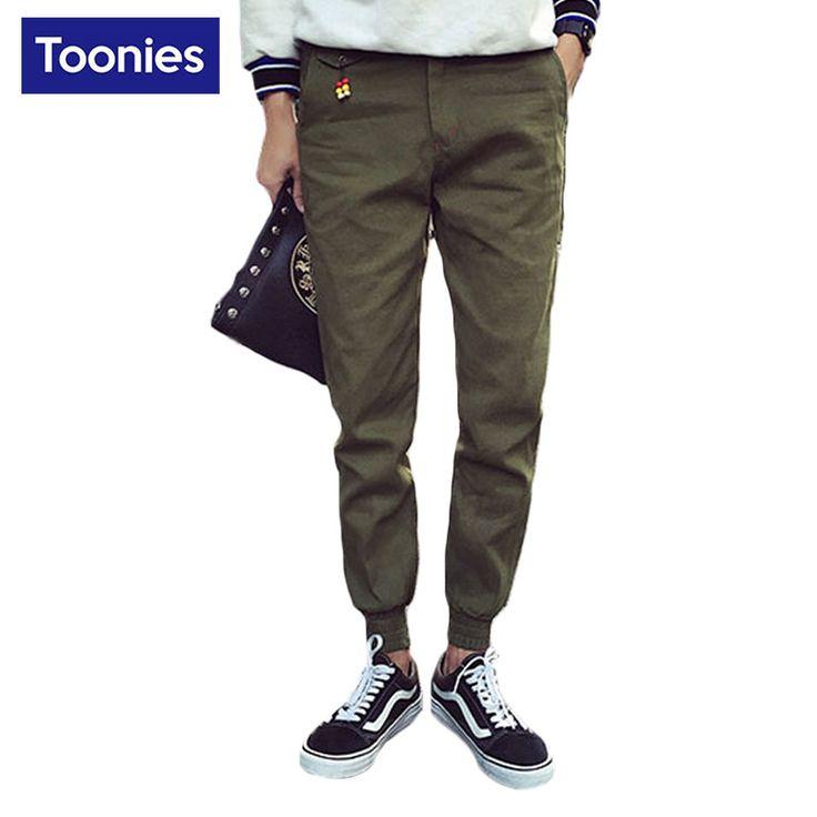 2017 뜨거운 판매 캐주얼 남성 바지 솔리드 패션 남성 바지 연필 조깅 망 바지 Pantalon 아저씨 브랜드 Broeken 남자