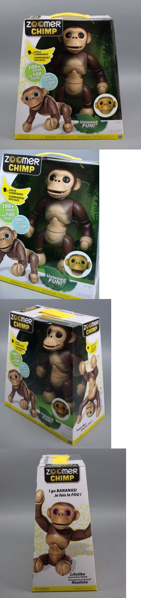 Other Interactive Toys 232: Monkey Chimp Zoomer Interactive Robot Voice Command Movement Sensor -> BUY IT NOW ONLY: $79.98 on eBay!