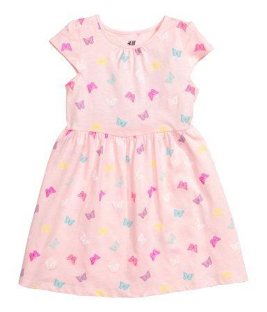 Jerseykleid | Hellrosa/Schmetterlinge | Kinder | H&M DE