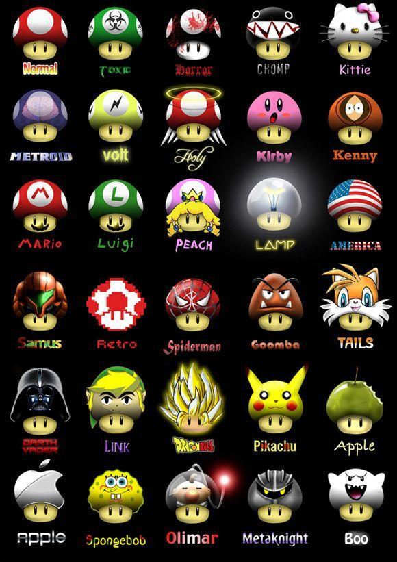 Champignon Jeux Mario Jeux Video Arts Dessin Jeux Video