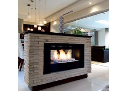 Fireplace Warehouse - 1000 Flue-less Gas D/Sided Built-in - no frame