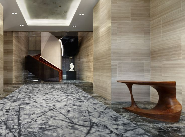 Stylish Spirited And Considered The Interiors Of This Hotel Capture Verve New York City Entry Is Wrapped In Honed Silvery Veined Stone