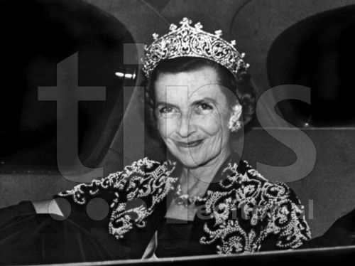 Countess Edwina Mountbatten, wearing the diamond tiara in 1959, a year before her death in 1960