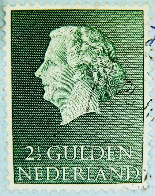dutch stamp 2.5 G Gulden Netherland Nederland timbre Pays-Bas postage 2 1/2 Gulden 2.50 Juliana Regina selo Países Bajos sello francobolli Paesi Bassi почтовая марка Нидерланды pullar Hollanda 邮票 荷兰 Hélán Briefmarken Niederlande Holland Pays-Bas Países Ba by stampolina