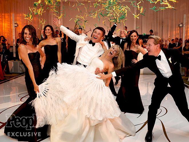 "Kym Johnson & Robert Herjavec's Dreamy Wedding Album |  | ""We didn't want it…"