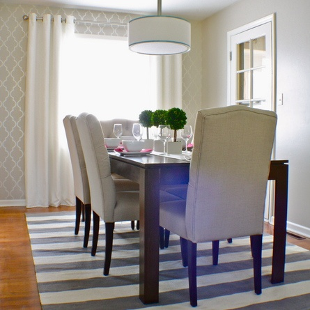 467 best dining room ideas images on pinterest for Stenciled dining room table