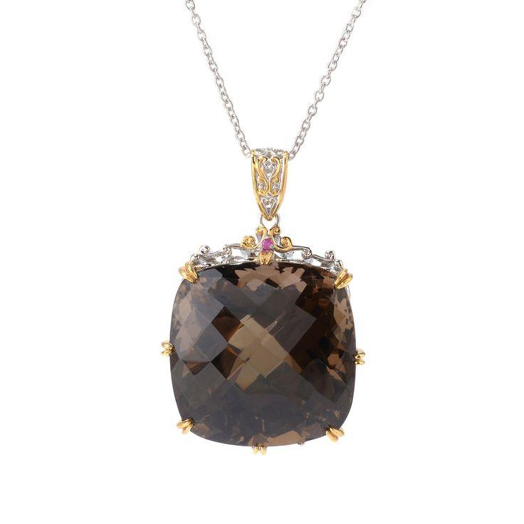 """143-121 - Gems en Vogue Gemstone Masterpiece Pendant w/ 18"""" Chain"""