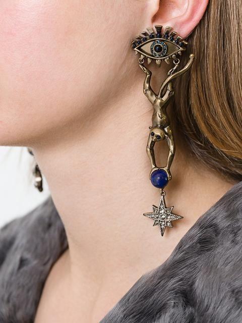 Roberto Cavalli monkey pendant earrings