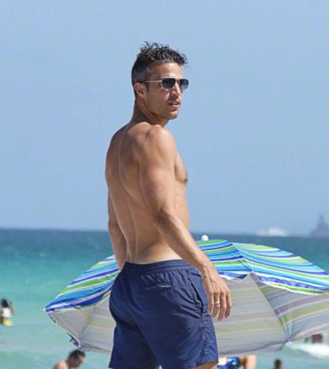 Robin van Persie enjoying their vacation in Miami.