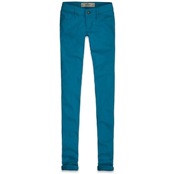 Hollister Co Hollister Jegging ($22) ❤ liked on Polyvore featuring pants, leggings, hollister, jeggings, bottoms, jeans, vintage trousers, blue pants, blue trousers and vintage leggings