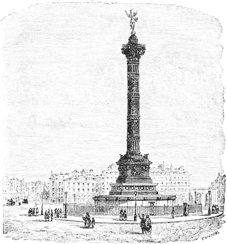 bastille square in paris