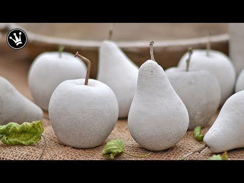 DIY - Herbstdeko selbermachen | Früchte aus Beton | Gießform aus Silikon herstellen | How to - YouTube