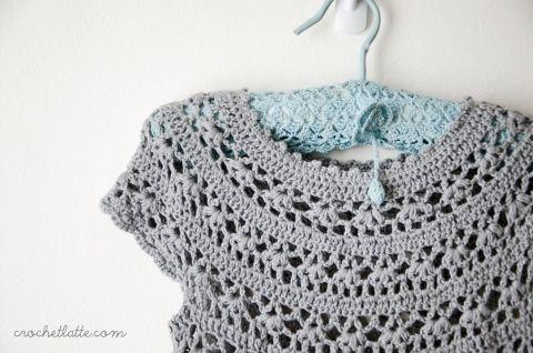 Carta Round-yoked Dress. Pattern here http://www.ravelry.com/patterns/library/carta-round-yoked-dress