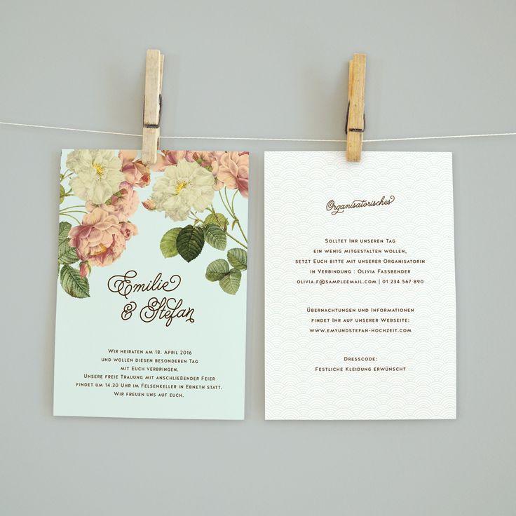 Boho Garden Hochzeitseinladung