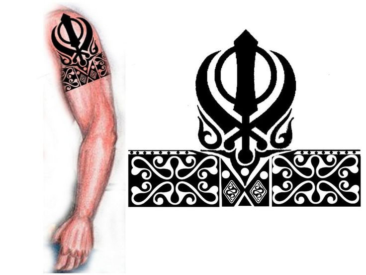 Sikh Khanda tribal tattoo by thehoundofulster.deviantart.com on @deviantART