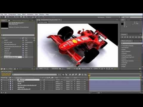 Maya Multi-Pass Rendering Tutorial - Extract the Render Passes and Composite them with After Effects - YouTube