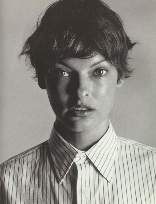 Linda Evangelista by Michael Thompson.