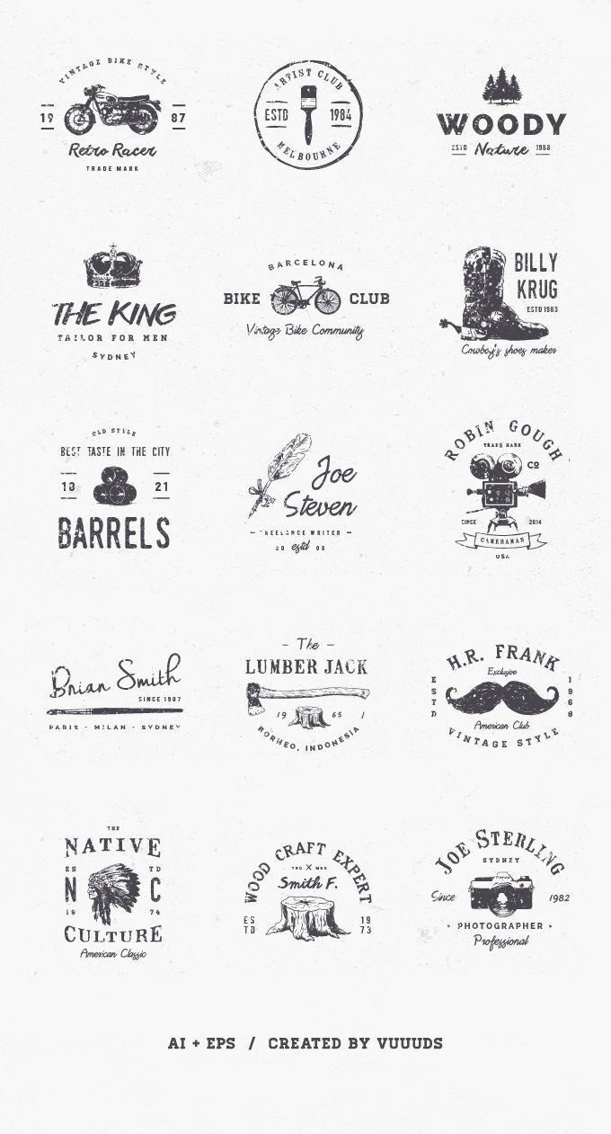 download free logos vintage kit masthead pinterest logo design