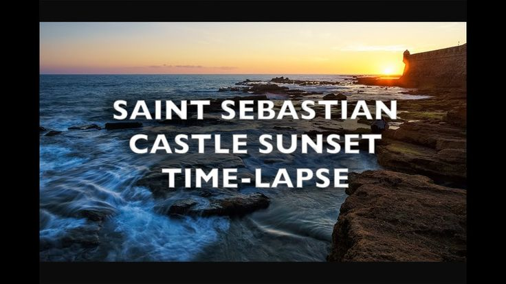 Saint Sebastian Castle Sunset Time-Lapse 4K Royalty Free Footage