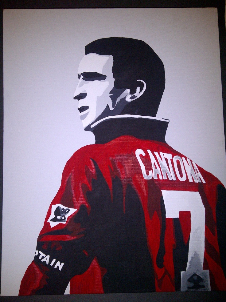 Eric Cantona Canvas http://www.etsy.com/shop/laurawesley17