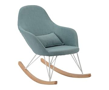 Affordable fauteuil bascule bleu et naturel l with for Chaise bercante allaitement