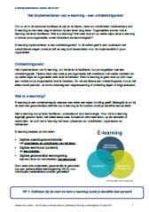 Het implementeren van e-Learning: een routekaart - E-learning Event