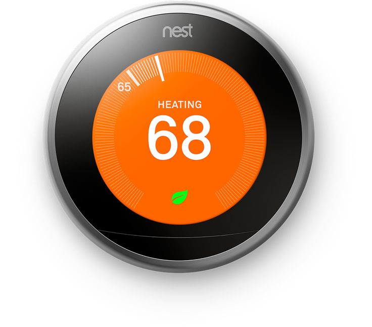 The 3rd gen Nest Thermostat programs itself. It helps save energy. And you can control it from anywhere on your phone, laptop, or tablet.