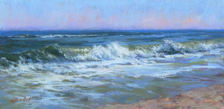 Pastell Welle Malerei Original Seelandschaft ungerahmt