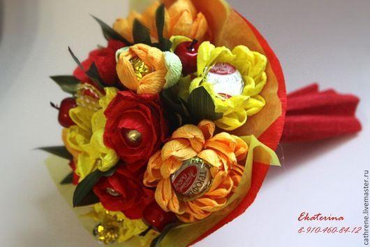 Букеты ручной работы. Ярмарка Мастеров - ручная работа. Купить Осенние цветы. Handmade. Букет, букет из конфет, букет цветов