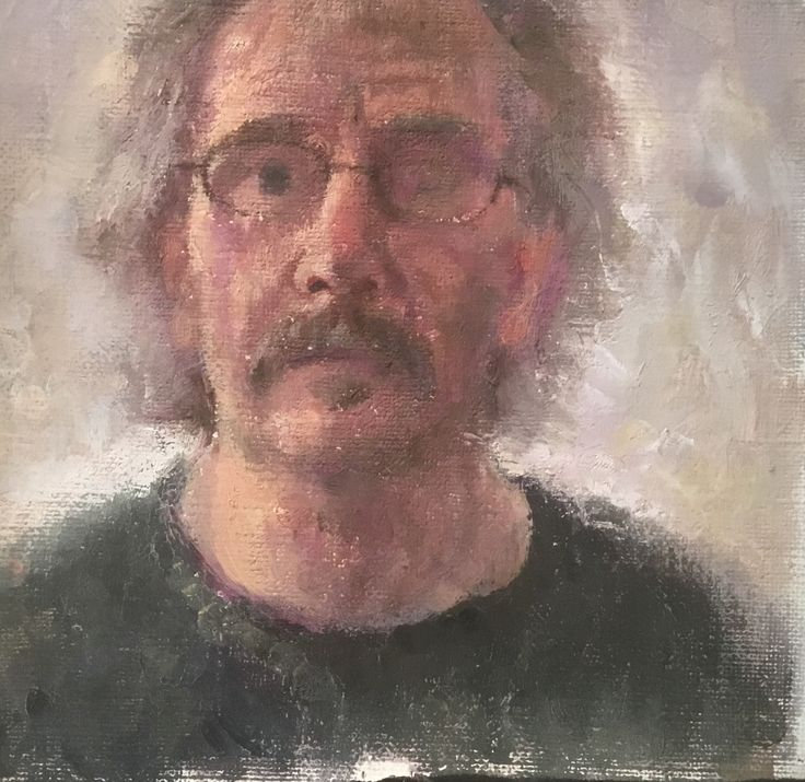 Self portrait. Oil on canvas. Andrew Mclean.