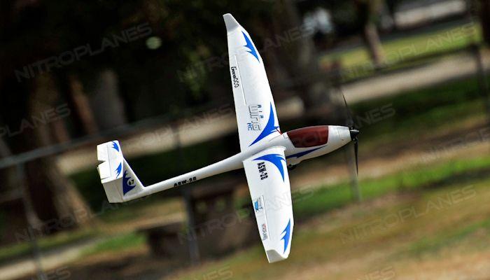 AirWing 4-CH ASW28 1700mm RC Glider EPO 2.4G RTF (Blue)