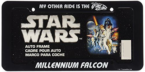 Chroma 42525 Black Star Wars Millennium Falcon Plastic Frame //Price: $6.49 & FREE Shipping //     #starwarsmeme