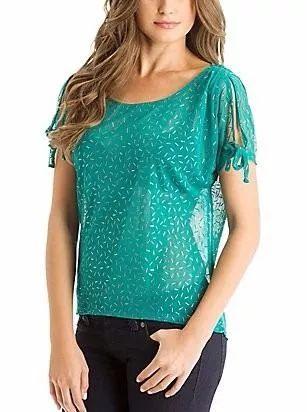 blusa guess vestir trabajo tela verde aqua xs s m stock
