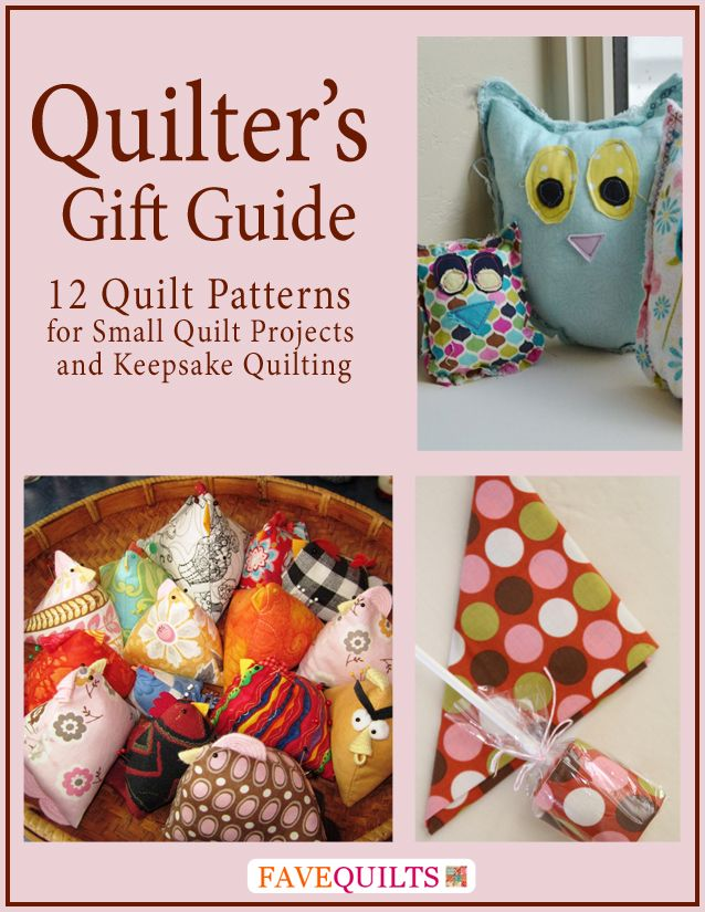 Check out our new gift guide for quilters (click to get the free download)! You can whip up one of these 12 small quilt projects for the holidays or any other special occasion.