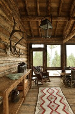 Rusticliving Room Wall Storage