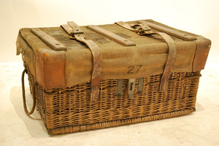 FRENCH WICKER TRUNK. These baskets are great for storing all kinds of things & they usually fit on a shelf