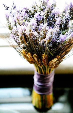 Lavender and Wheat Bouquet. Wheat as the source of life, like historical times!