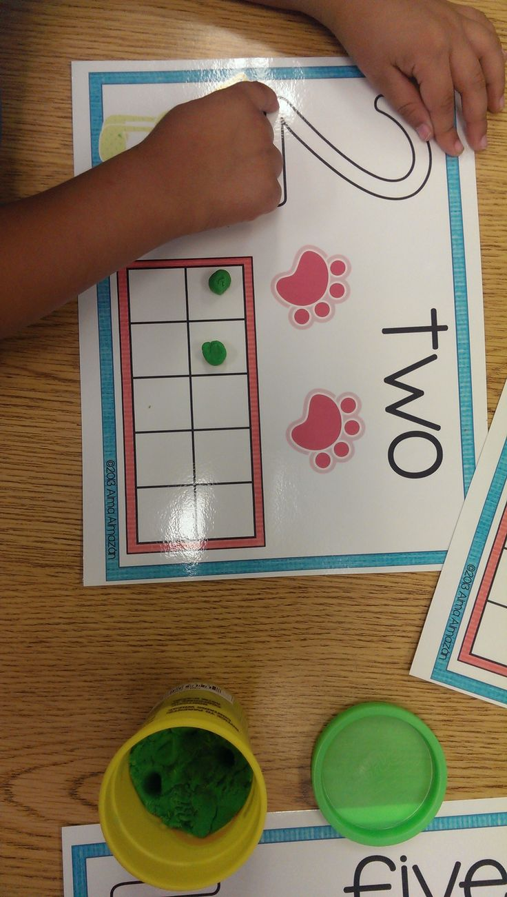 Great for my kiddos that don't recognize #numbers yet.