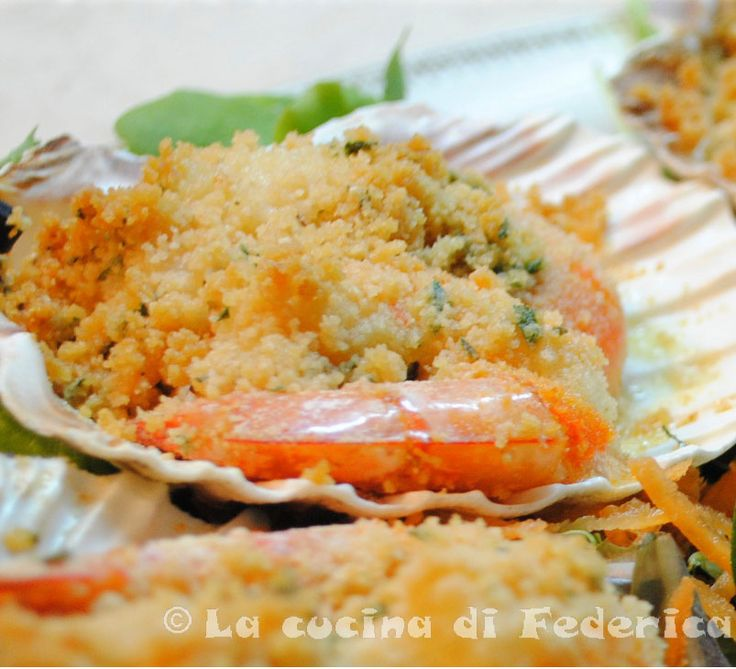 Scallops and Shrimp Gratin