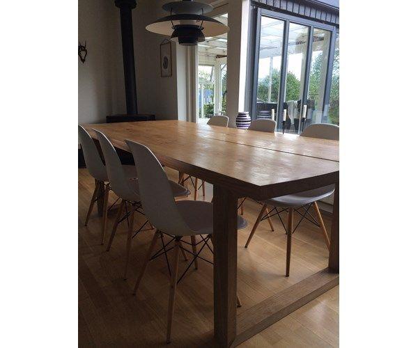 Spisebord, plankebord, mann design, b: 100 l: 240, udført i ...